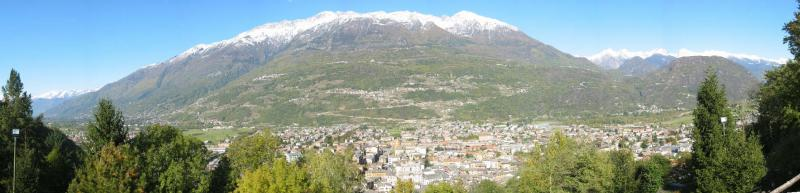Morbegno citta e le alpi retiche - Italy - Italia - Alps - Bassa Valtellina