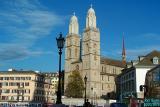 Frauenkirche in Zurich, Switzerland