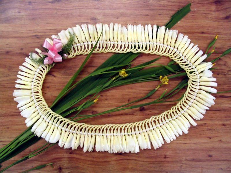 Micronesian Style Ginger Lei