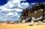 Sandstone cliffs at North Curl Curl beach