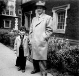 My father and me, Chicago,  April 1947