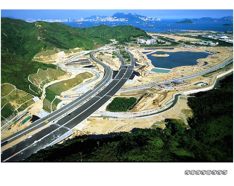 Construction site of Hong Kong Disneyland