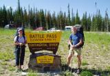 starting our Divide hike in Wyoming Battle Pass