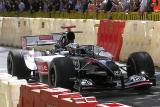 Minardi boss Paul Stoddart driving