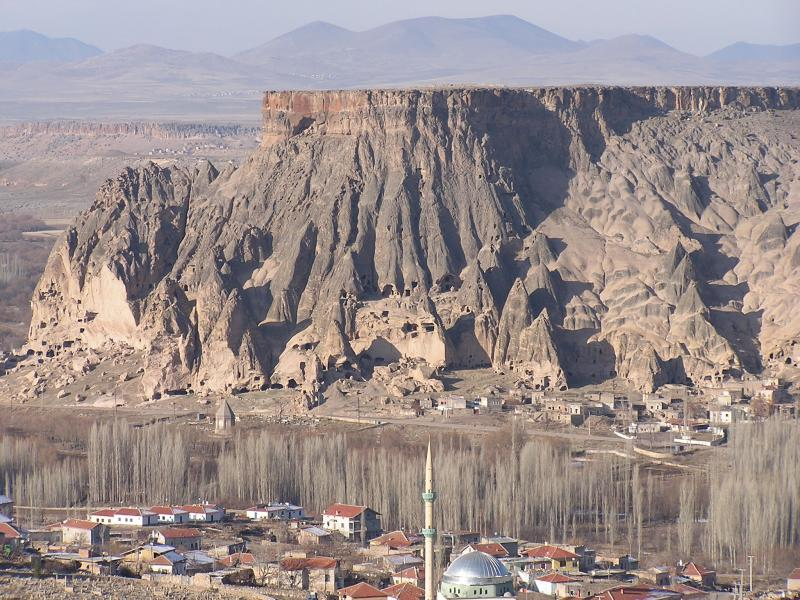 Town of Selimiye - Fairy Chimneys in the background
