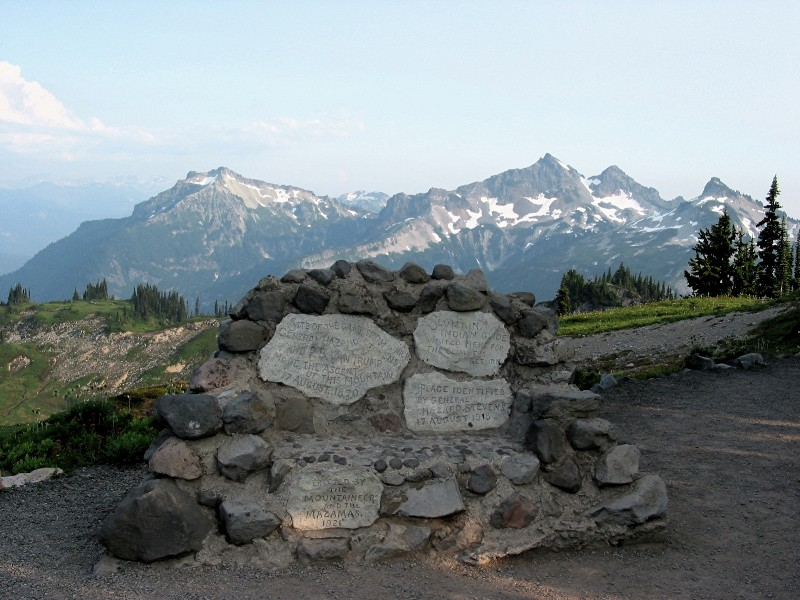 Van Trump Monument and Tatoosh Range
