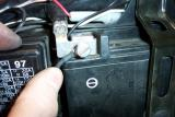 Here is the negative battery connection. Do the same for the positive side