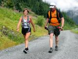Ronda & Bill climbing the 7 mile road