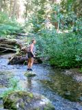 Ronda in the middle of a creek
