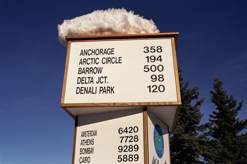 Alaska Highway milepost