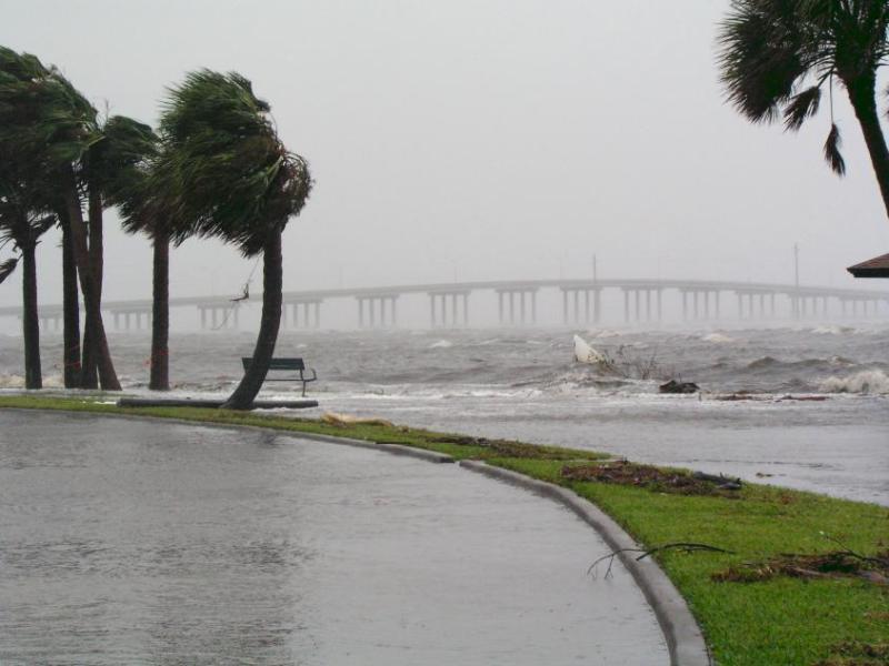 Storm surge from Ballard Park.