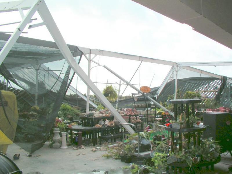 Patrick BX Garden Center destroyed.