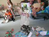Gavin got Dinosaurs!