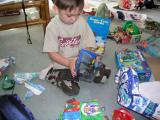 Gavin and his R/C Hot Wheel car.