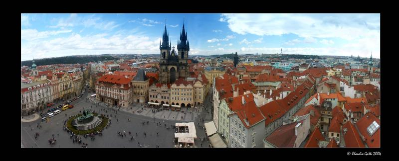 The roofs of Praha