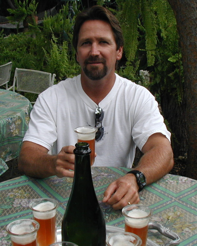 Gary and His Brew...Gary brews beer and mead...great stuff...he has won several awards in both categories.