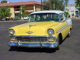 yellow 56 Chevy