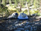 First night campsite