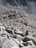 Climbing up to the pass