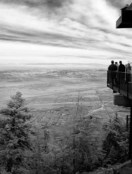 View from tram summit (infrared)