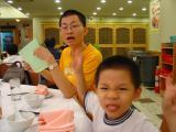 Caleb 26-8-2003 - Visiting Kwong Hon Ming's home