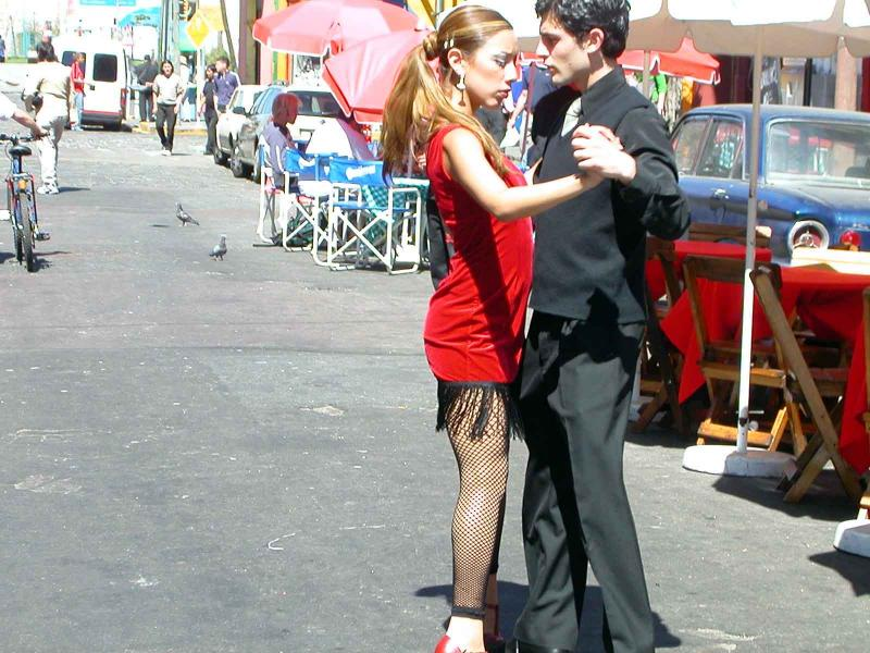 Buenos Aires - La Boca street dancers
