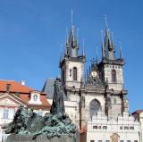 Jan Hus monument and Tyn Church