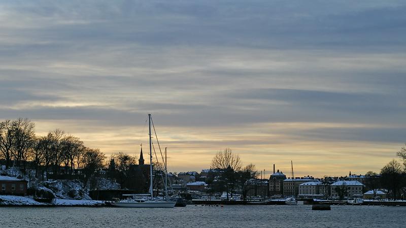 evening sky in winter