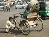 Rickshaw wallah on a break, Dhaka