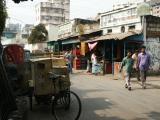 Cargo rickshaw and restaurant near Dhaka Sheraton