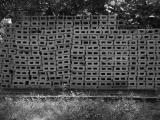 past hollow block wall