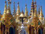 Shwedagon spires.