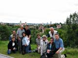 A last group picture, with Vilnius in the background.
