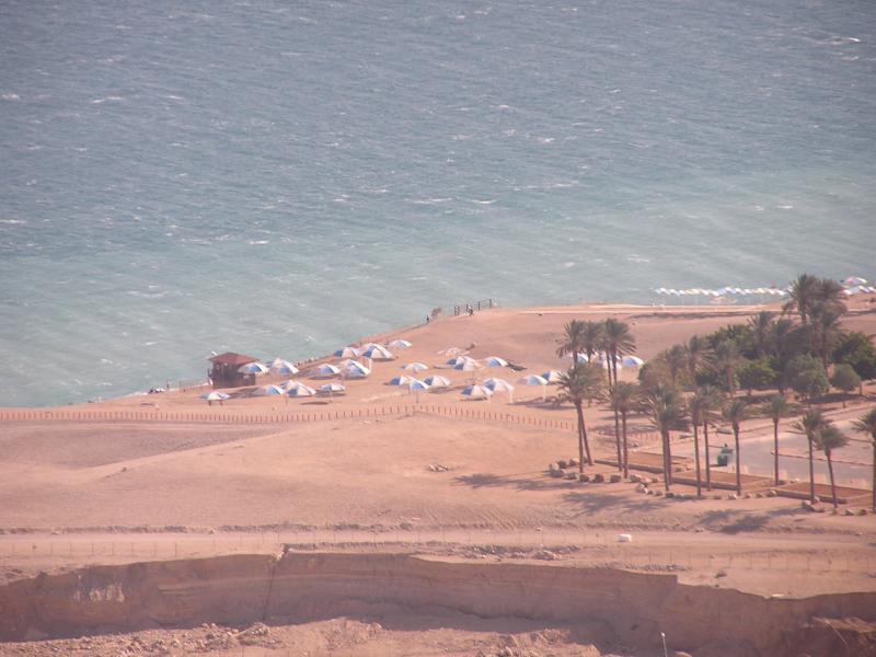 Ein Gedi public beach from our hike