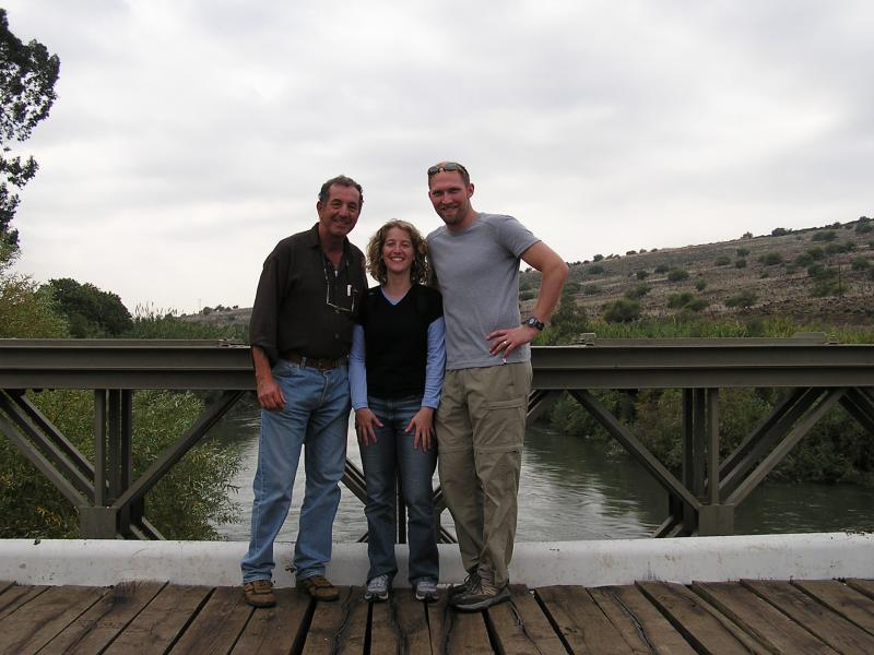 Jordan River shot with tour guide Joram