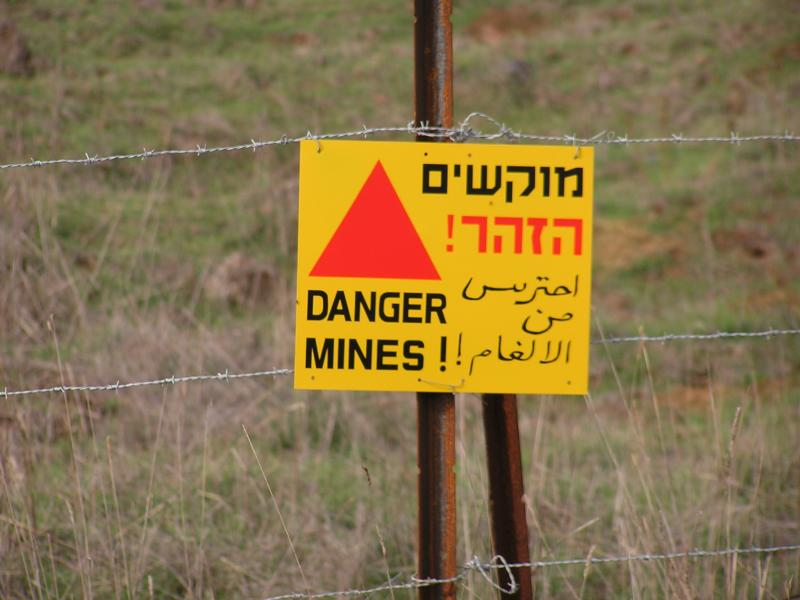 Mines have only been removed from the settlements, the rest of the countryside is strewn with mines