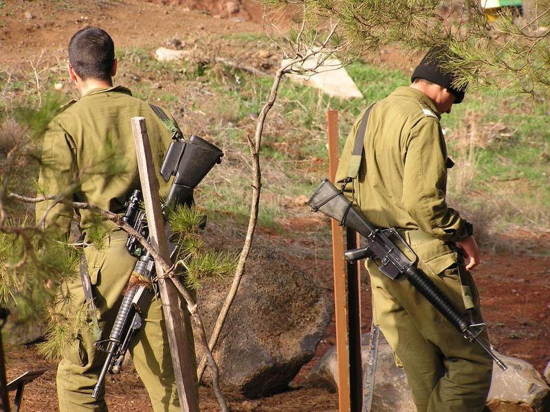 Soldiers on break