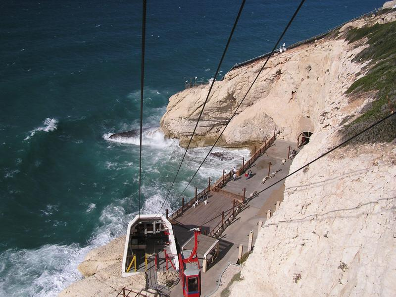View from cable car  Rosh Hanikra