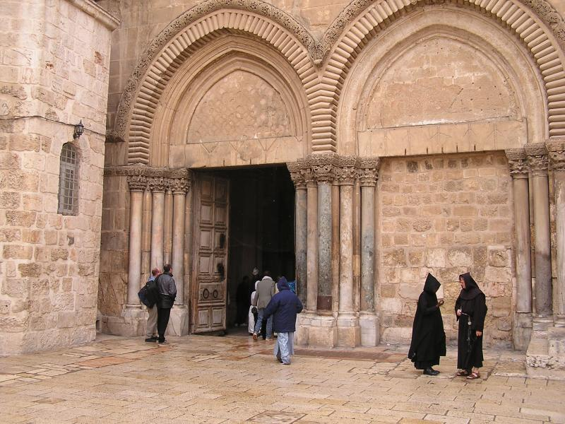 Entrance to Church of Holy Sepulchre