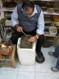 Shimon Mesika- Hand carves beautiful plates of silver and copper.JPG