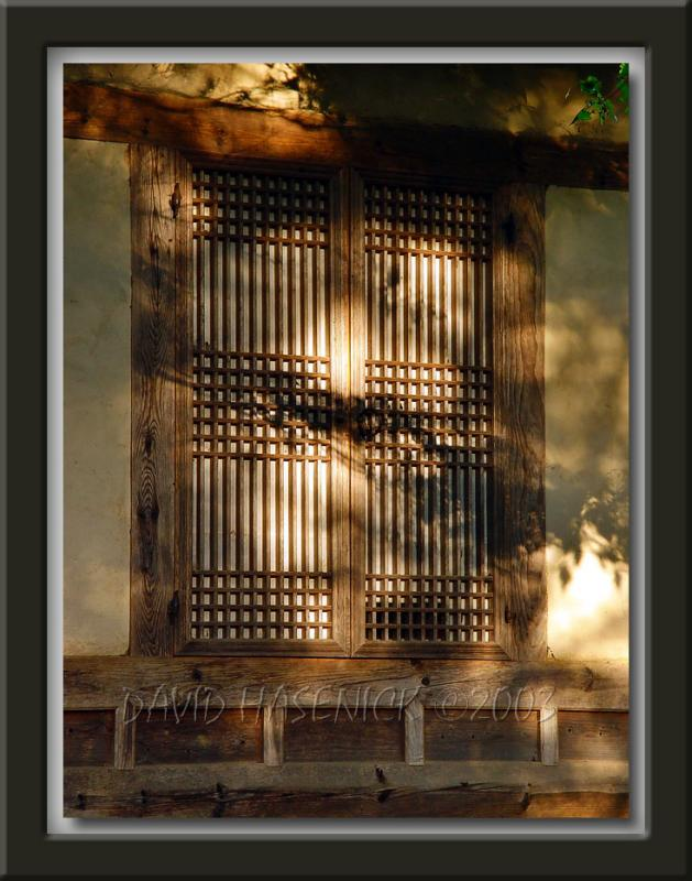 Old Style Wooden Door with Paper Window