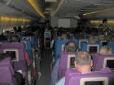 INSIDE SQ 747-400 TRANS ATLANTIC FLIGHT