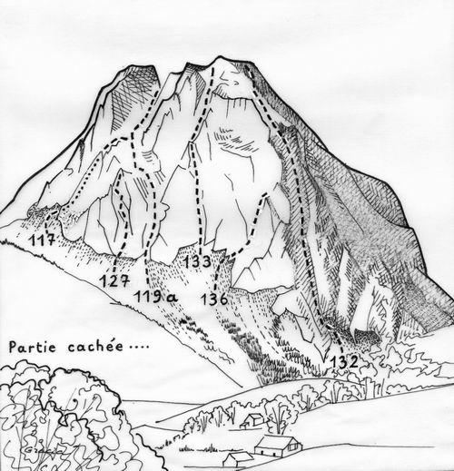 069-Grand et Petit Billare, versant NE-It. 123/. 132/. 133/. 134/. 135/.