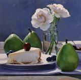 24 Cheesecake and Pears 12 x 12