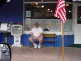 spectator and American flag
