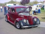 beautiful burgandy  5 window custom sedan
