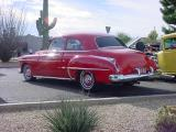 beautiful red 1950 Oldsmobile