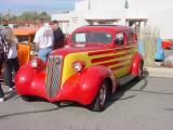 red and yellow hot rod