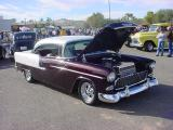 1955 Chevy 2 door  black and white hardtop