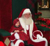 So excited on my first Santa sitting. I mumbled all my gift requests, and left a little drool on his sleeve.